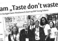Taste – don´t waste: YOUNG Talents Pitch geht nach Schwäbisch Gmünd